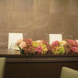 新郎新婦の席の花