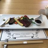 見学の際出た食事 式で出す肉料理との事。