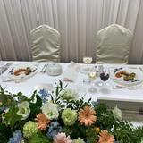 新郎・新婦テーブル