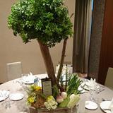 野菜を使ったテーブル装花