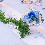 テーブル装花は造花でコストダウン