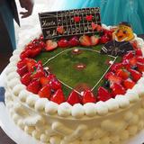 大好きな野球チームのウェディングケーキ