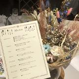 卓上総花とメニュー表