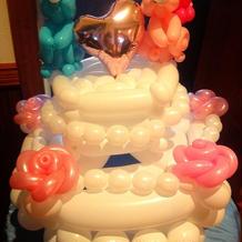 バルーンアートウェディングケーキ