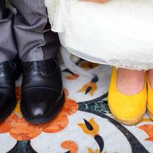 新郎新婦揃って靴は持ち込みました。