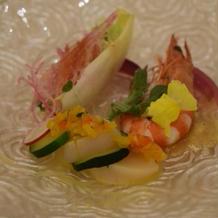 車海老と帆立貝のサラダ仕立て