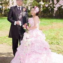 一目惚れした桜ドレス