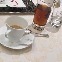 食後のコーヒーか紅茶のサービス