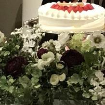 ファーストバイト用のケーキ