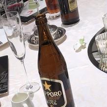 ビールはサッポロビール提供でした