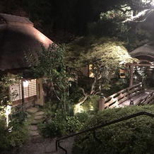 夜のお庭も素敵でした。