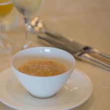 スープ。カニのスープ