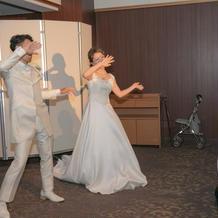 ダンスするスペースもとれました