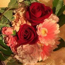 お花をいただきました♡