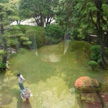 2階からみたお庭