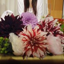 高砂席装花