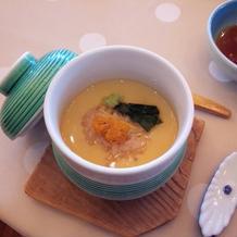 赤飯+茶碗蒸しの創作料理