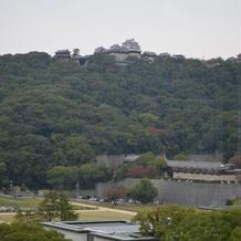 披露宴会場からの風景(松山城)