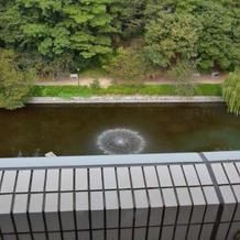 披露宴会場からの風景(噴水)
