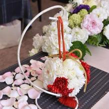 和装のお花は友人が作成してくれました