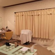 新郎新婦の控え室