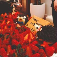ケーキも要望通りで可愛かった。