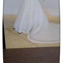 ドレスです。会場のホールで撮りました。