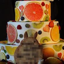 とても可愛いウエディングケーキでした