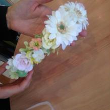 花冠7000円で作ってもらいました