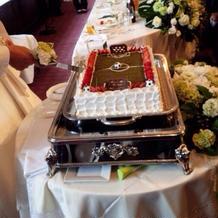 ウェディングケーキが可愛かったです