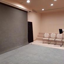 会場内に撮影場所があります