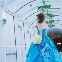 とっても華やかなドレスでした。