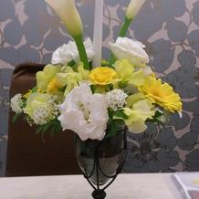 お花は専門の方と決めることができた。
