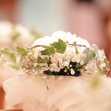 チャペルのお花が可愛い♪
