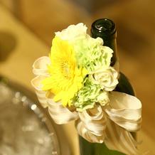 メインキャンドルのお花