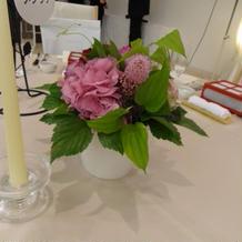 テーブルの装花です。