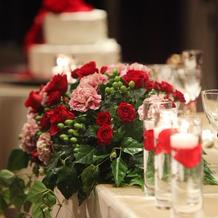 高砂装花とキャンドル