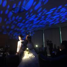 光の演出がロマンチックでした