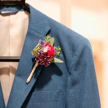 こだわりのブルーのスーツ