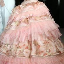 新婦カラードレス正面