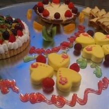 かわいいケーキやフルーツ