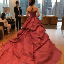お色直しのカラードレス♪