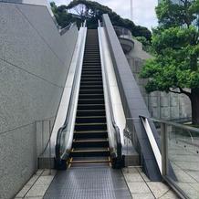 階段ではなく、エレベーターも使えます。
