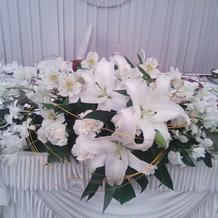 新郎新婦の花