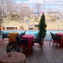 中庭 プール