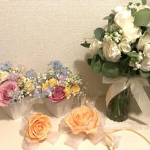 ブーケや装花が可愛かったです。