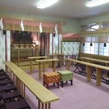 会館内の神殿です。