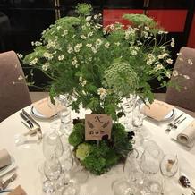 テーブル装花②