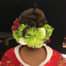 和装は生花がいいと決めていました。