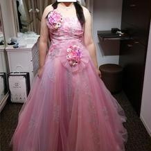 新婦衣装最終フィッティングカラードレス